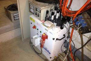 Duschmanagement für Schleusenanlage mit Unterdruckschreiber