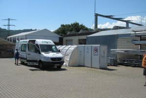 Mobile Entsorgungsstation Quickdachsystem