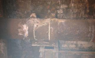 asbesthaltige Pappen Gleitlager Fernwärmeleitung