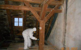 Beseitigung mit Lindan, DDT, PcB belastetem Dachstuhl nach DGUV Regel 101-004 (BGR 128)