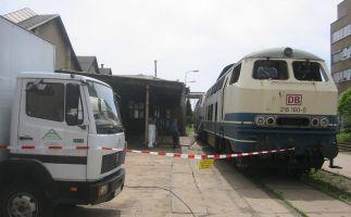 Brandschadensanierung Diesellok Deutsche Bahn