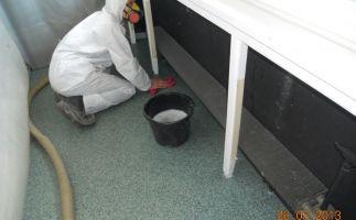 Feinreinigung nach Demontage Asbestpappen