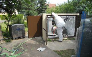 Reinigung Enso Umspannstation nach Verpuffung mit Trockeneis