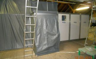 Schleusenanlage mit Sanierungsbereich nach TRGS 519